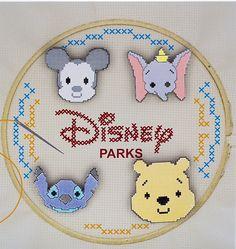 Disney Parks Cross Stitch Pin Set!
