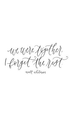 Walt Whitman, calligraphy quote, handlettering