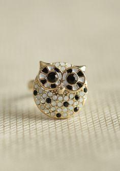 Bejeweled Bird Ring | Modern Vintage Jewelry