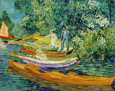 Bank of the Oise at Auvers, 1890. Vincent Willem van Gogh