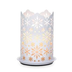 Partylite Winter Lace Candle Sleeve