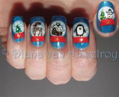 snow globes manicure - adorable