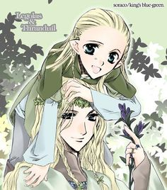 Legolas and his mother. It took me some time to figure out that was his MOTHER.