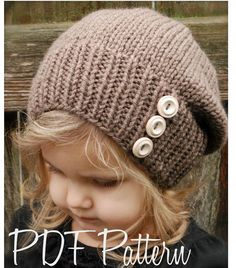Knitting PATTERNThe Raevyn Slouchy Toddler Child par Thevelvetacorn, $5.50