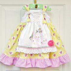 Tea & Roses Apron Knot Dress