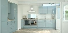 Pacrylic Blue Quartz Gloss Kitchen primary image
