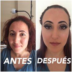Maquillaje del antes y después.../makeup before and after...✌️ #trabajorealizado23/04/2016