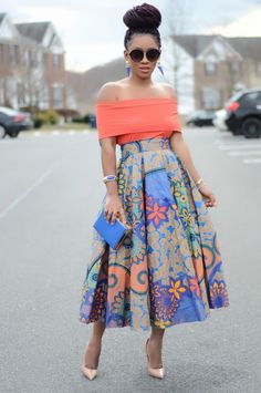 Bright and bold outfit