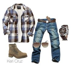 """Rugged"" by keri-cruz ❤ liked on Polyvore featuring Old Navy, Cerruti 1881 and Beverly Hills Polo Club"
