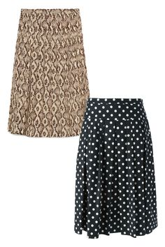 When temperatures creep above ninety, a breezy skirt in a silky material will allow for much-need airflow. But like culottes, the midi length provides enough fabric to keep warm. Zara Midi Skirt, $70; zara.com Michael Kors Polka Dot Pleated Skirt, $942; farfetch.com   - ELLE.com
