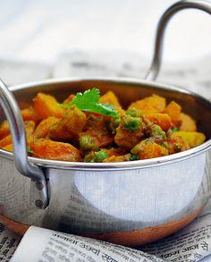 Vegan Indian Recipes, Asian Recipes, Ethnic Recipes, Easy Healthy Recipes, Veggie Recipes, Vegetarian Recipes, Vegetarian Cooking, Cottage Cheese Recipes, Exotic Food