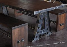 Etsy interviewer Karen Brown asked the MAKE crew for their favorite Etsy objects: MAKE Contributing Editor John Edgar Park chose this vintage industrial frame dining table.