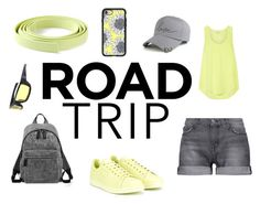 """ROAD TRIP"" by racheldenisnefeke on Polyvore featuring Current/Elliott, Equipment, adidas, Marc Jacobs, Ermanno Scervino, Casetify, yellow, simple and grey"