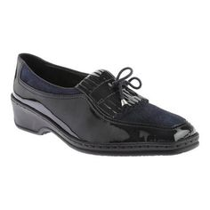 Women's ara Rachel 41121 Navy Patent/Pin Dot (US Women's (Regular))