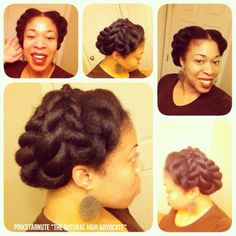 Give Me A French Twist Shared By @Naturalhair_Pinkstarnute - http://community.blackhairinformation.com/hairstyle-gallery/updos/give-french-twist-shared-naturalhair_pinkstarnute/ #updos