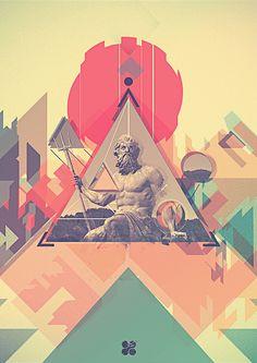 Poseidon. by LyKy Dragos, via Behance