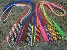 Paracord lanyards...very cool.