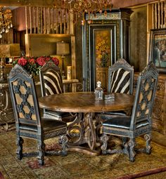 I'm so look doing this with my dated dining room chairs...