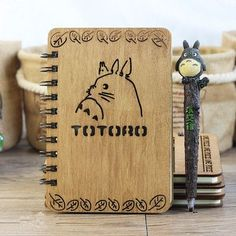 Totoro Artisan Crafted Wooden Planner / Notebooks Multiple Varieties!