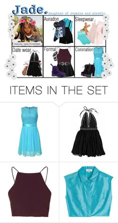 """""""Descendants OC / Jade"""" by shyxprince ❤ liked on Polyvore featuring art"""