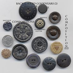 COMPOSITION & GOODYEAR Buttons by YaddaYaYa, via Flickr