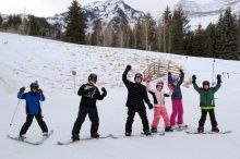 Our guests couldn't be any more excited to be in the most beautiful place in the world!  #skiing #sundance #happyguests