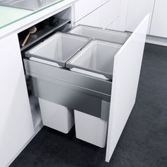 cabinet Pulls Trash Bins - VauthSagel Oeko XX Liner for Cabinet Pull Out Trash Can Home Decor Kitchen, Kitchen Living, Kitchen And Bath, Diy Kitchen, Kitchen Ideas, Small Kitchen Cabinets, Kitchen Units, Small Cabinet, Built In Kitchen Cupboards