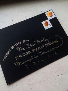 Custom Envelope Addressing Service by hexasiam on Etsy Hand Lettering Envelopes, Mail Art Envelopes, Handwritten Letters, Custom Envelopes, Envelope Art, Envelope Design, Pen Pal Letters, Envelope Addressing, Penmanship