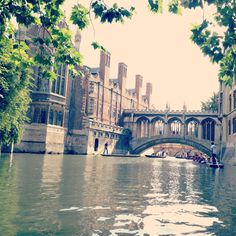 Punting in Cambridge England