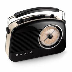 Retro AM/FM Radio and MP3 Speaker