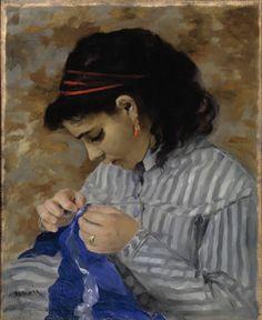 Pierre-Auguste Renoir Lise Sewing 1866