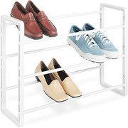 Whitmor Stackable Shoe Rack, White $11.97