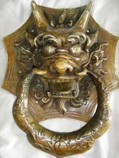 Wonderful Chinese Brass Copper Dragon Head Door Knocker | eBay
