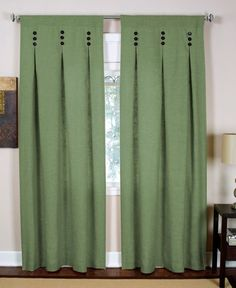 """Elrene Murano 26"""" x 84"""" Panel--I like the pleat and button details on these panels; it wouldn't be too difficult to make!"""