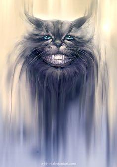 Cheshire Cat by *O-l-i-v-i on deviantART