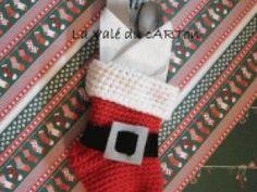 Série de tutos pour noël : n°1 La chaussette range-couverts - par Valeriesady