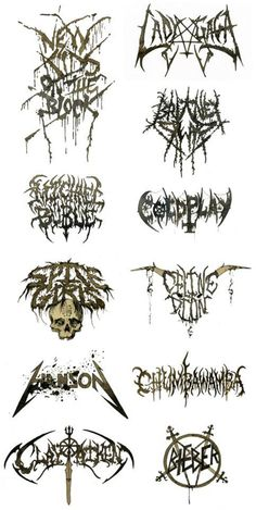 pop band logos METALFIED - hahaha, awesome!