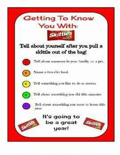 Get to know you with skittles