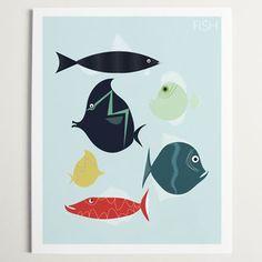 FISH Print by ModernPOP