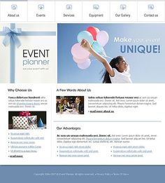 Event Planner Website Templates by Delta