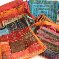 Indian Cotton Embroidered Sequin Brocade Hippy Boho Shoulder Messenger Bags