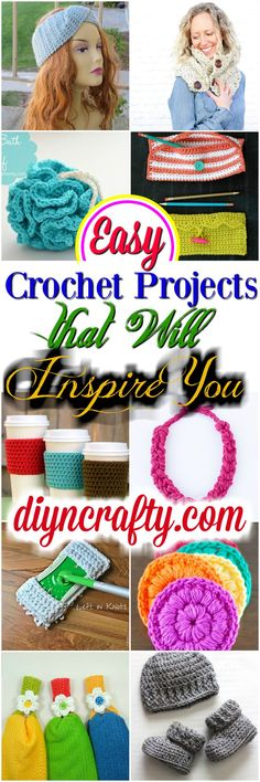 I have gathered a very interesting some interesting crochet projects for your inspiration and to take the first step in crocheting.