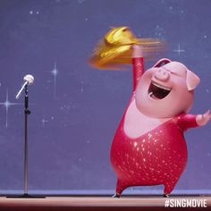 Discover & share this Sing Movie GIF with everyone you know. GIPHY is how you search, share, discover, and create GIFs. Sing Movie, Mani Ratnam, Illumination Entertainment, Picture Company, Animated Gif, Netflix, Singing, Entertaining, Funny