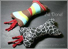 Squeaky Doggie Bone Tutorial | Laura Griffin Designs