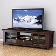 "Sonax Arbutus - Mueble para TV, enchapado de madera teñido en color espresso oscuro, 63"" | Overstock.com Shopping - The Best Deals on Entertainment Centers"