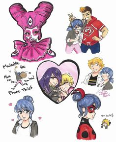 Miraculous Ladybug: drawings by Kiyomi-chan16
