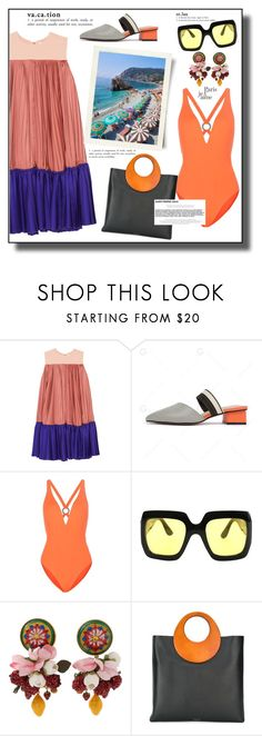 """Saint-Tropez travel outfits"" by faten-m-h ❤ liked on Polyvore featuring Roksanda, Proenza Schouler, Gucci, Dolce&Gabbana, Michael Kors, Chanel, sainttropez and outfitsfortravel"