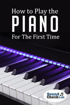 Learn how to play by yourself by checking out our guide on how to get started on playing the piano for the first time. Vocal Lessons, Piano Lessons, Guitar Reviews, Digital Piano, Educational Websites, Musical Instruments, The One, First Time, Keyboard