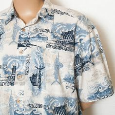 XXL 2XL REEL LEGENDS MENS NOVELTY SHIRT FISH FISHING SAILFISH MARLIN BACK VENT #SomeLikeItUsed
