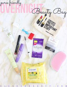 Purse-Friendly Overnight Beauty Bag   Slashed Beauty